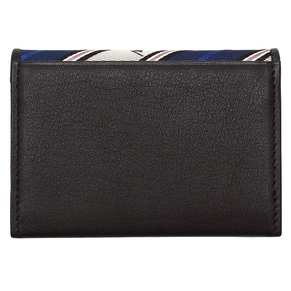 Hand Made Business Card Case Jacquard Woven Silk Genuine Leather Made in Japan