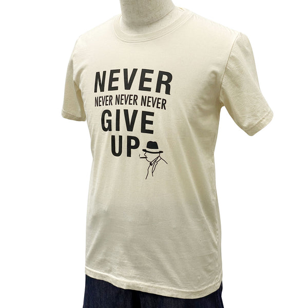 Disinfecting Cloth T Shirt Unisex 100% Cotton -Never Give Up- Made in Japan