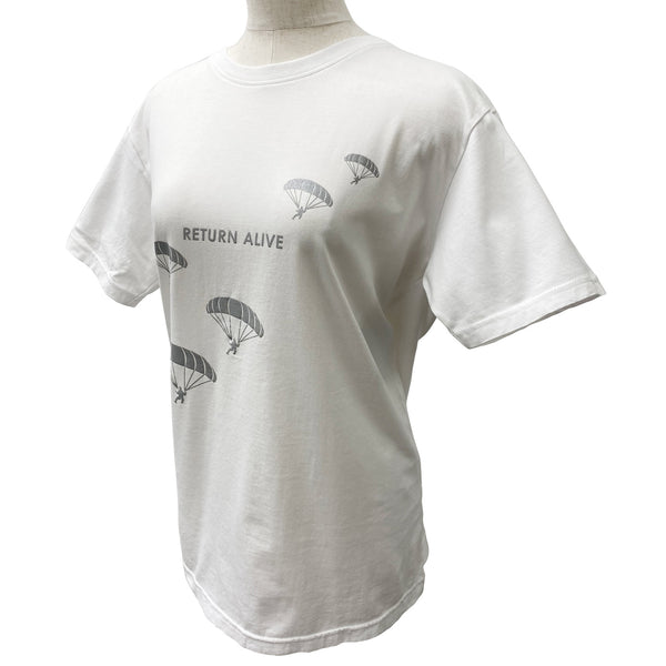 Antivirus Processed T Shirt Unisex 100% Cotton -Return Alive- White Made in Japan