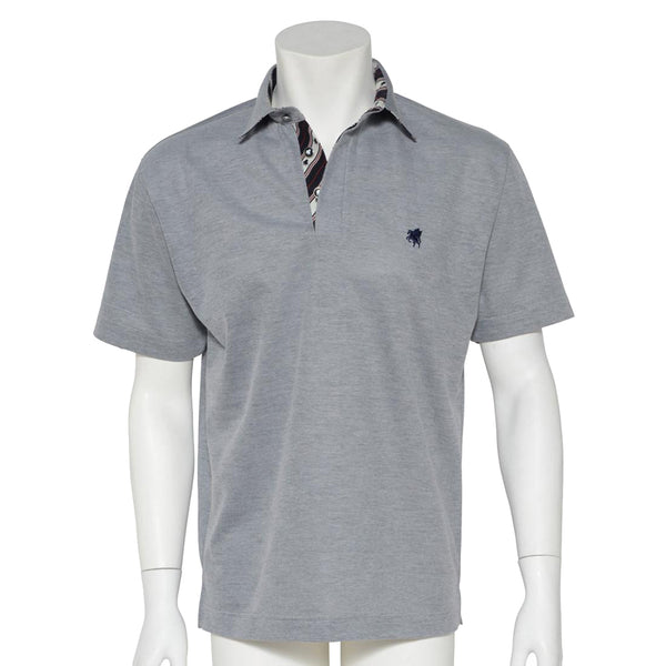 Men's Short Sleeve Sports Polo Shirt -13. Miracle- Pegasus Design Quick Dry- Made in Japan
