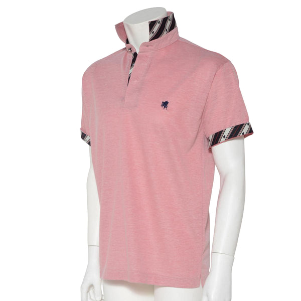 Men's Short Sleeve Sports Polo Shirt -13. Miracle- Pegasus Design Quick Dry Heather Blue/Red/Grey Made in Japan (S/M/L/LL)