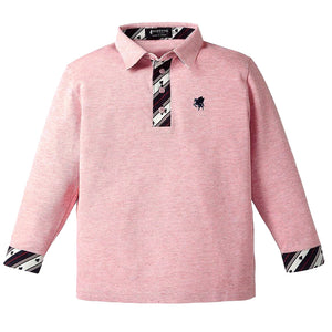 Kid's Organic Cotton Long Sleeve Polo Shirt -13. Miracle- Pegasus Pattern Made in Japan