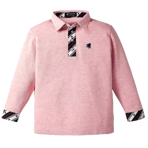 Kid's 100% Organic Cotton Long Sleeve Polo Shirt -13. Miracle Pegasus Design Made in Japan