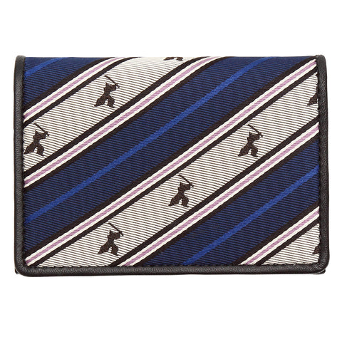 Leather Card Case -16. Samurai- Samurai Stripe Pattern Made in Japan