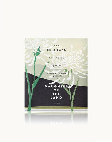 Daughter of the Land Restore Bath Soak with Cypress + Hemp Extract