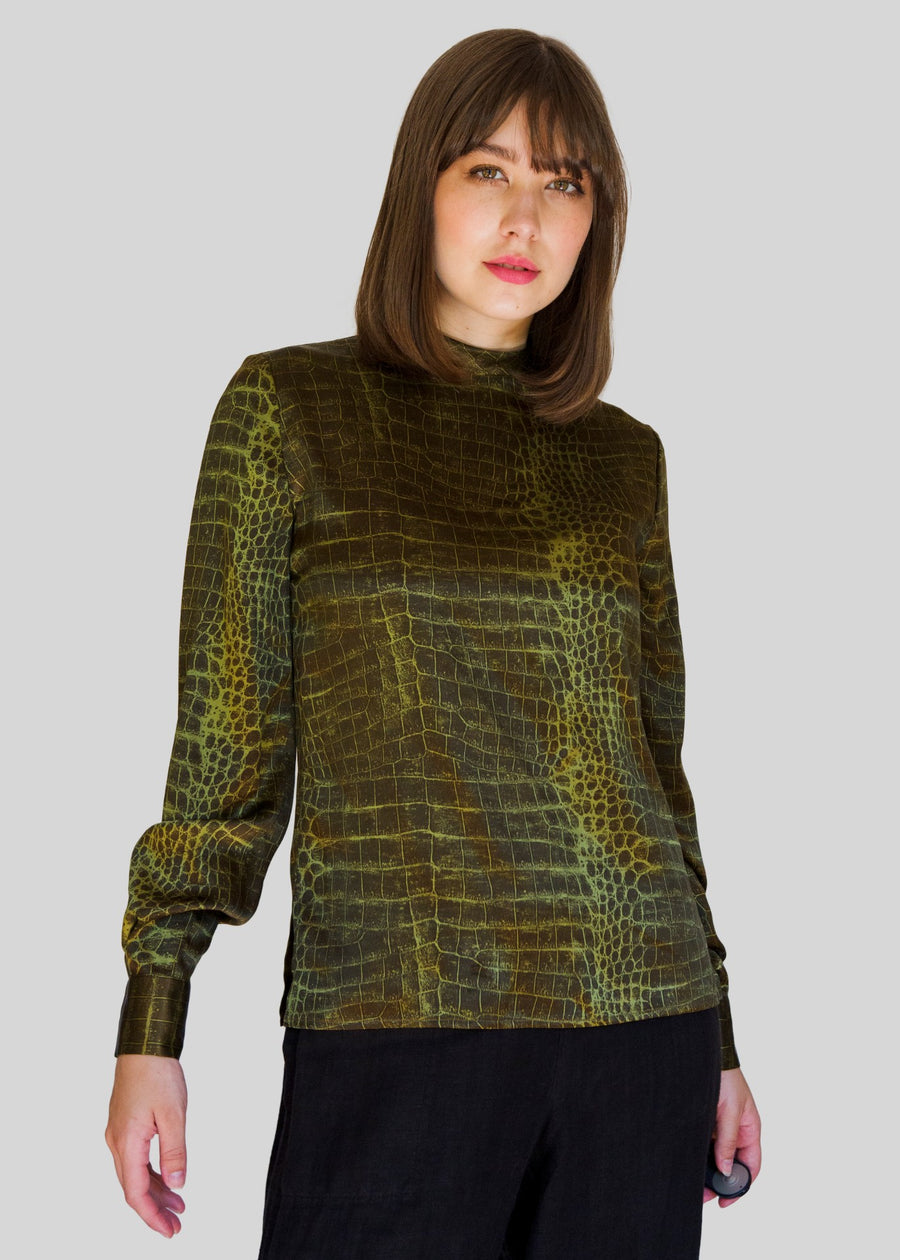 Ungaro snake-patterned blouse