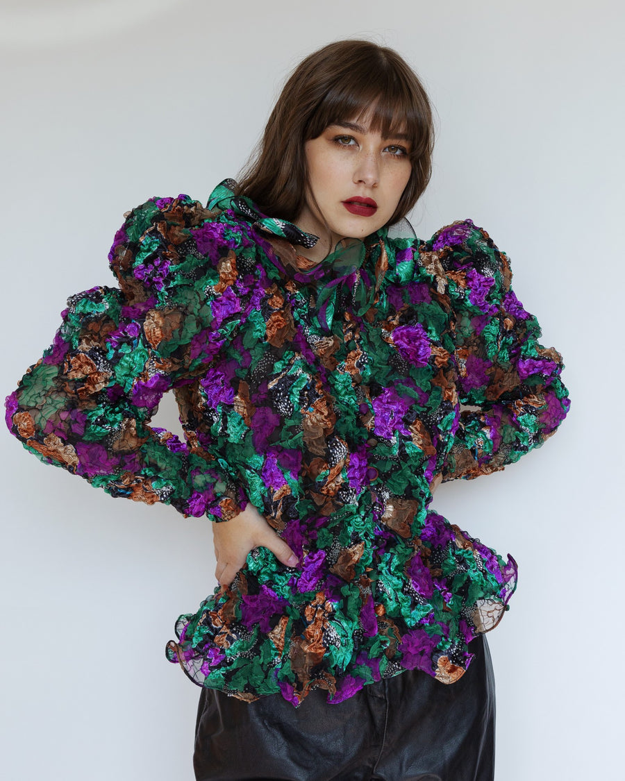 Dramatic Multi-Colored Jacket