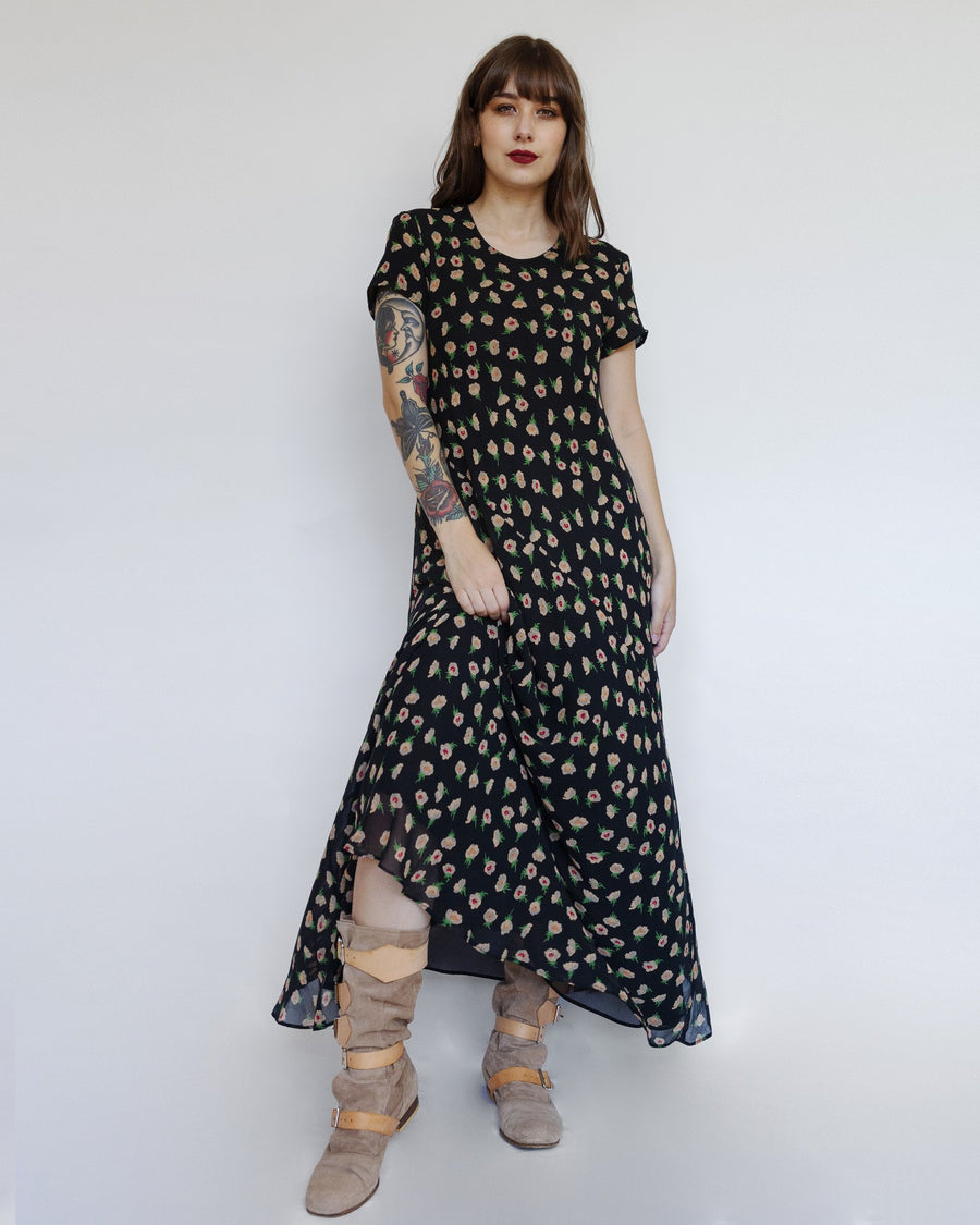 Bias-Cut Floral Dress from Tracy M.