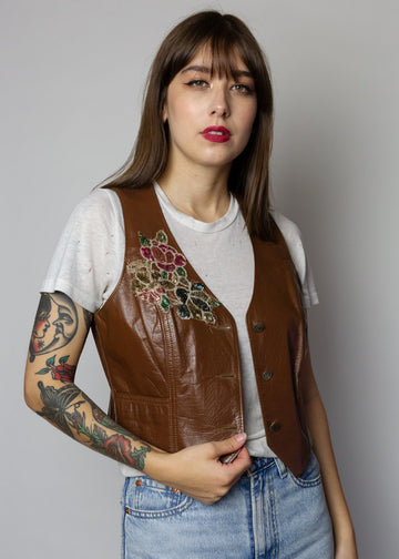 Ms. Pioneer Leather Vest