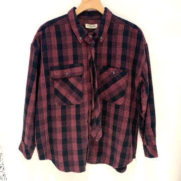 Byblos Flannel Blouse with Tie