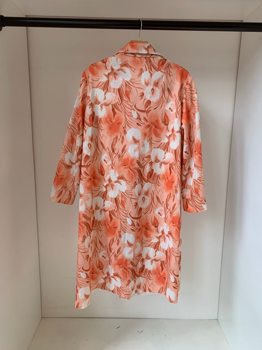 Peach poly shirtdress