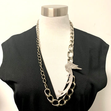 Silver Bird Necklace