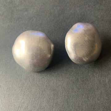 Brushed Silver-Tone Earrings