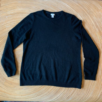 L.L. Bean Black Cashmere Sweater
