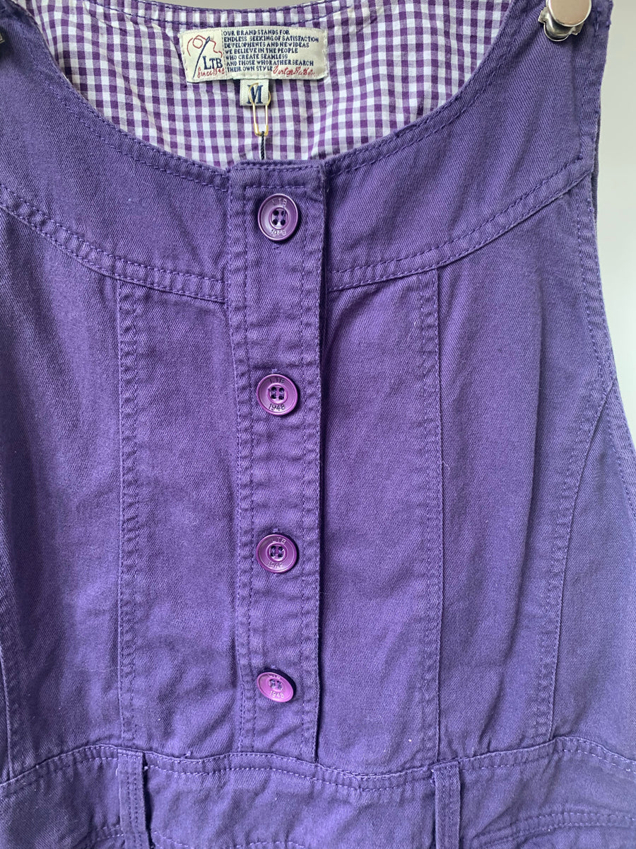 LTB purple overall dress