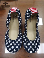 Storehouse Flats Stars & Stripes Suede