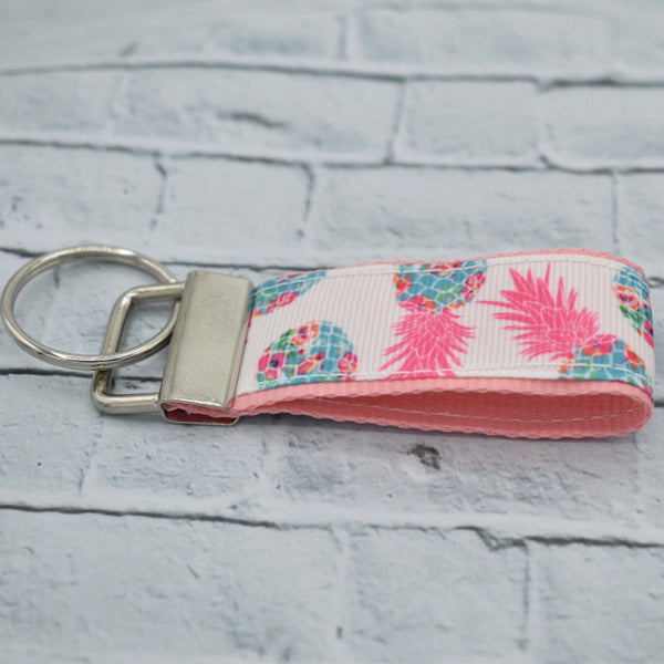 Lilly Inspired - Pineapple - Lightweight - Rose Gold - Key Fob - Women's Gifts