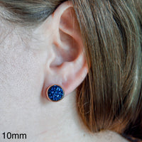 10mm - Christmas Cabochon  - Stainless Steel - Earring Stud - Womens Gifts