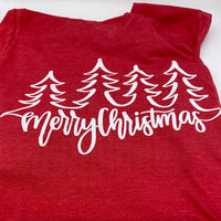 Merry Christmas - Red - Graphic Tee - Christmas Shirt