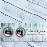 12mm - Southern Fall - Cabochon - Stainless Steel - Earring Stud - Women's Gifts - Luna & Grace