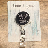 Christian Inspiration - Retractable - Badge Reel - Alligator Clip - Healthcare Gift