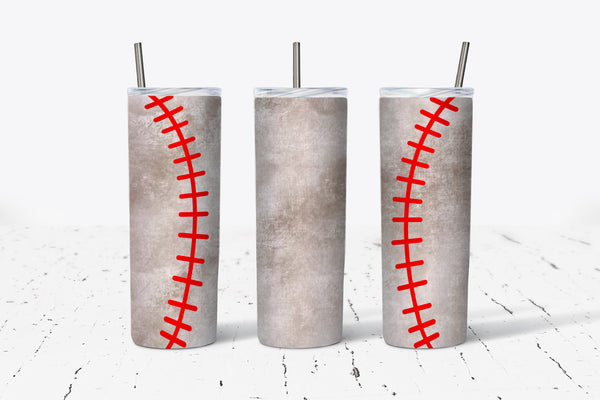 Baseball - 20oz Tumbler - With Straw - Stainless Steel - Baseball Mom - Baseball Gift