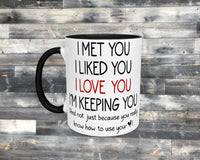 11oz - Ceramic - Coffee Mug - I Love Your Rooster - Funny Mug - Boyfriend Gift - Husband Gift - Valentines Day - Father's Day - Anniversary