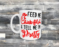 11oz - Ceramic - Coffee Mug - Feed Me Chicken - Funny Mug