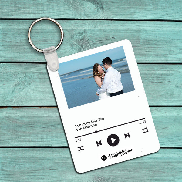 Custom - Album Cover - Rectangle Keychain - Wedding Song - Couples Gift - Anniversary Gift - Wedding Gift