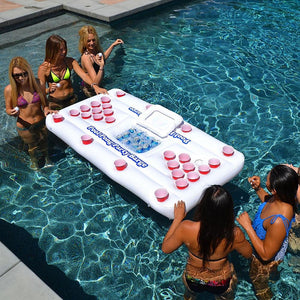 28 Cup Inflatable Beer Pong Pool Float - WITH ESKY