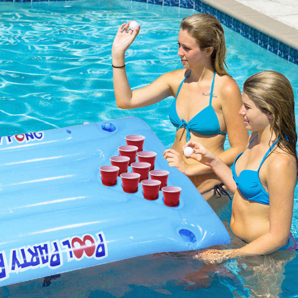 24 Cup Inflatable Beer Pong Pool Float