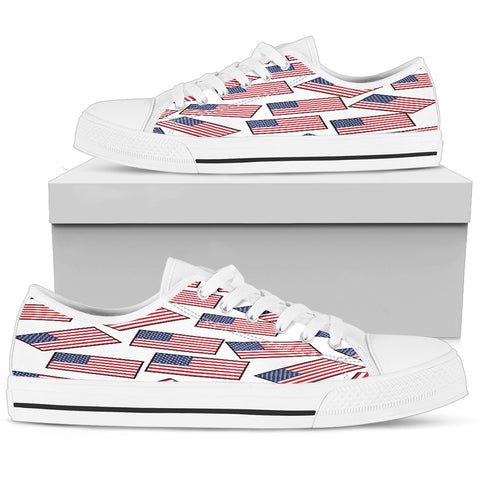 AMERICA'S PRIDE! AMERICA'S FLAGSHOE - Women's Low Tops