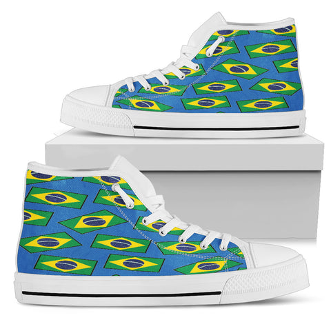 BRAZIL'S PRIDE! BRAZIL'S FLAGSHOE - Women's High Top