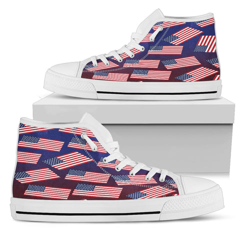 CUSTOM AMERICAN PRIDE! USA FLAGSHOE CUSTOM - Women's High Top