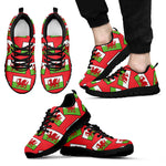 WALES'S PRIDE! WALES'S FLAGSHOE! - Men's Sneakers (red bg)
