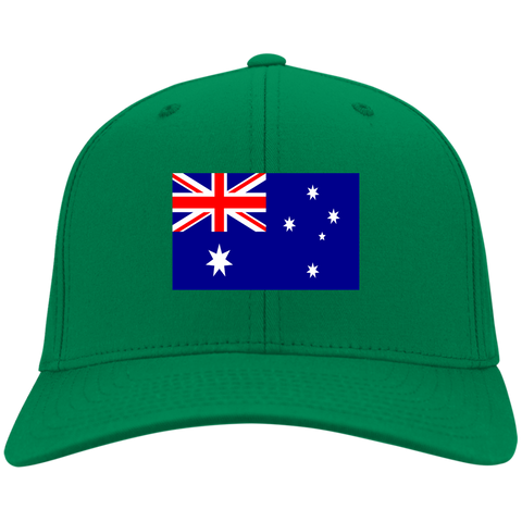 AUSTRALIA'S PRIDE! SIGNIE BASEBALL-CAP (Embroidered flag)