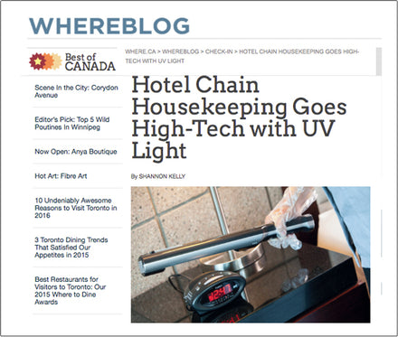 HOTEL CHAIN HOUSEKEEPING GOES HIGH-TECH WITH UV LIGHT