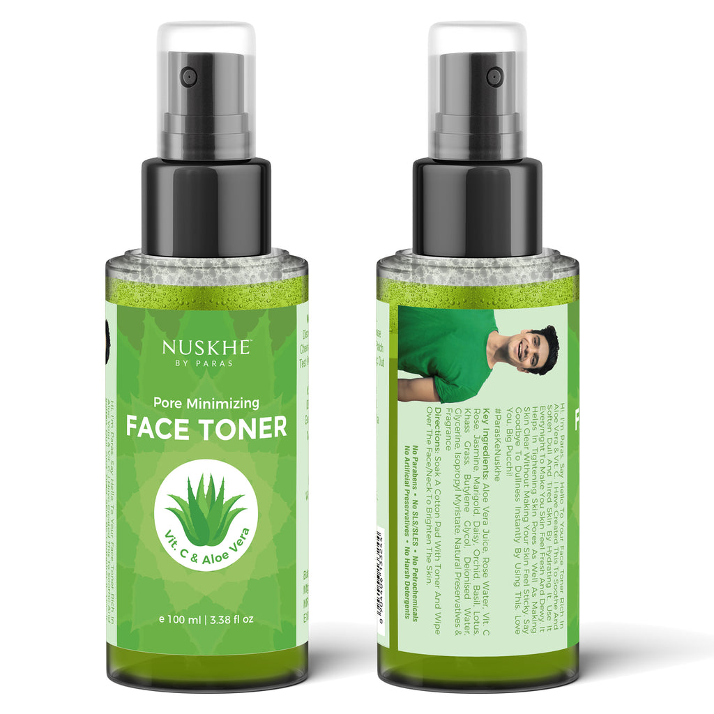Face Toner For Pore Minimiser & Deep Hydration For Women & Men With Vitamin C & Aloe Vera, 100 ml