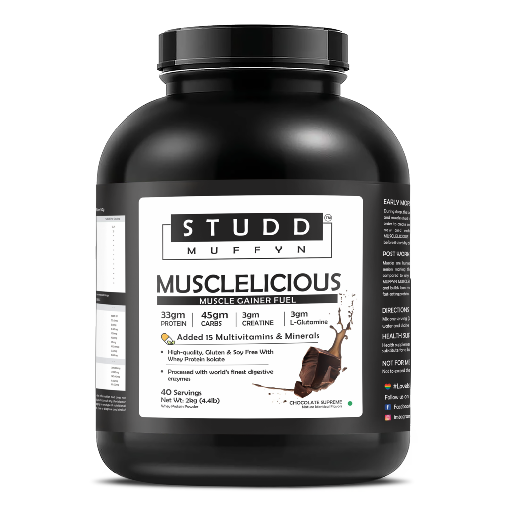 Studd Muffyn Musclelicious ,Muscle Gainer Whey Protein ( Chocolate - 2KG )