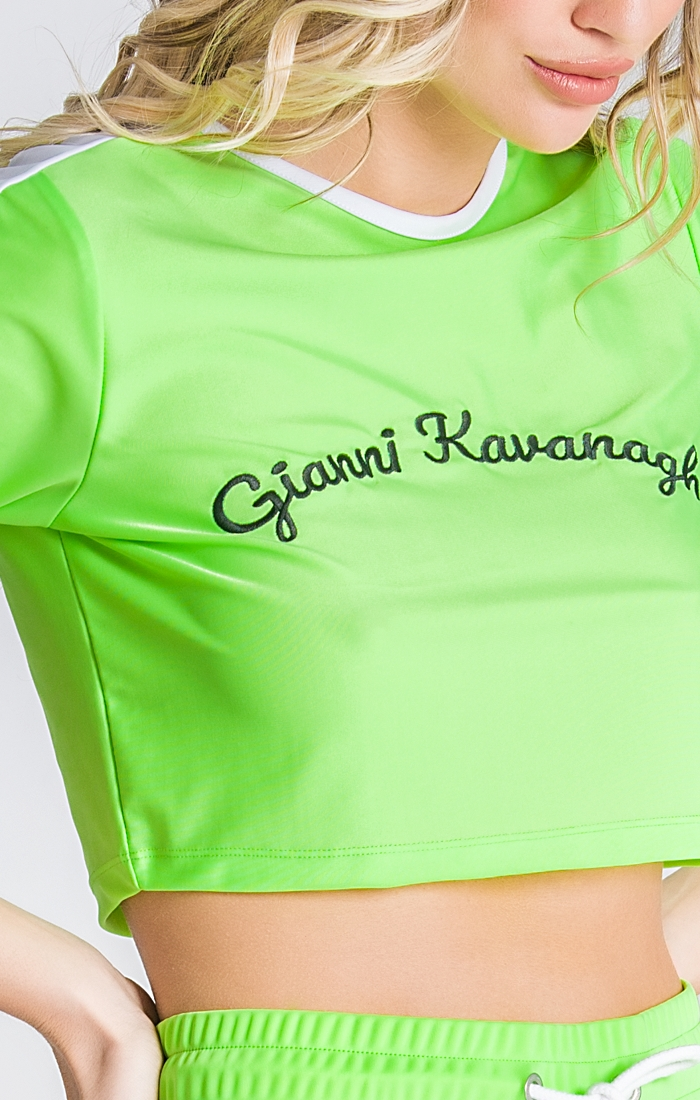 GIANNI KAVANAGH CAMISETA CROPPED VERDE NEON