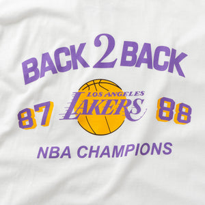 MITCHELL & NESS CAMISETA BACK TO BACK  LAKERS BLANCO
