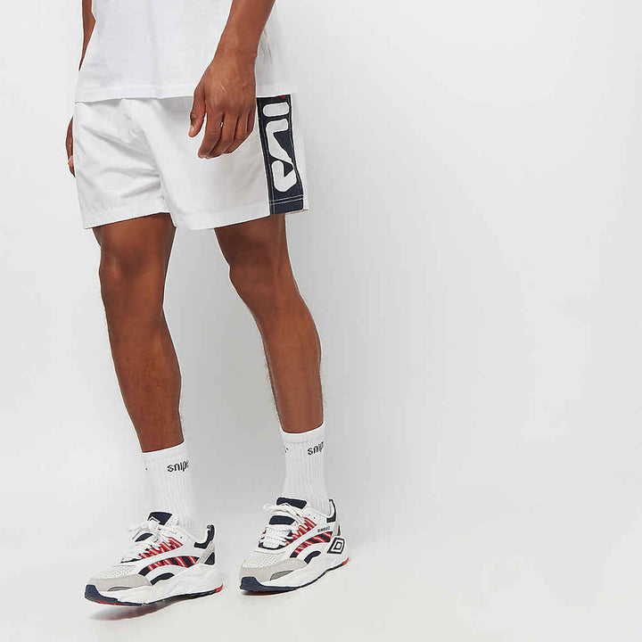FILA YUMMA SWIN SHORT BRIGTH WHITE, TRUE RED AND BLACK IRIS