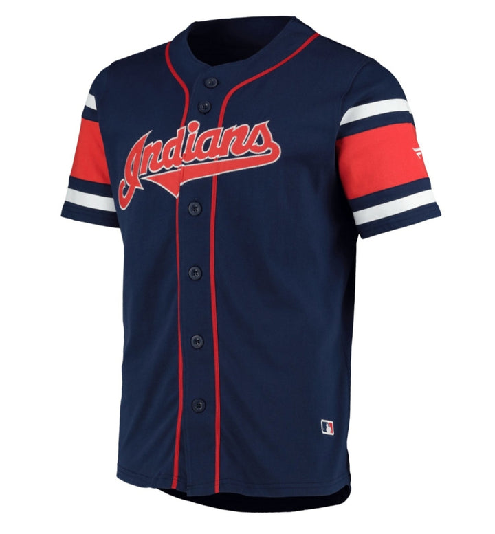 FANATICS MLB CAMISETA COTTON SUPPORTERS JERSEY CLEVELAND INDIANS AZUL