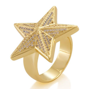 KING ICE THE 925 STERLING SILVER STAR RING
