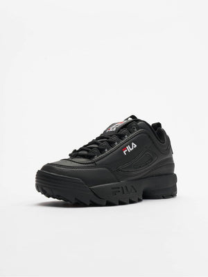 <transcy>FILA MEN&#39;S SHOES DISRUPTOR LOW BLACK</transcy>