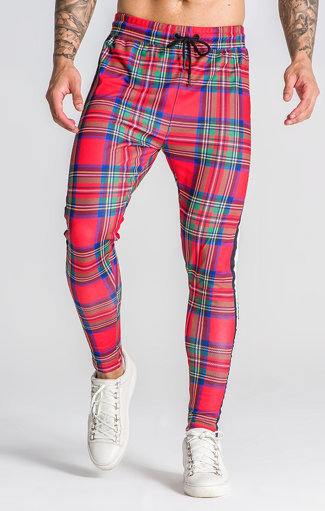GIANNI KAVANAGH SCOTTISH TARTAN TROUSERS RED