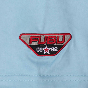 FUBU CAMISETA DE FÚTBOL CORPORATE CROP AZUL CLARO