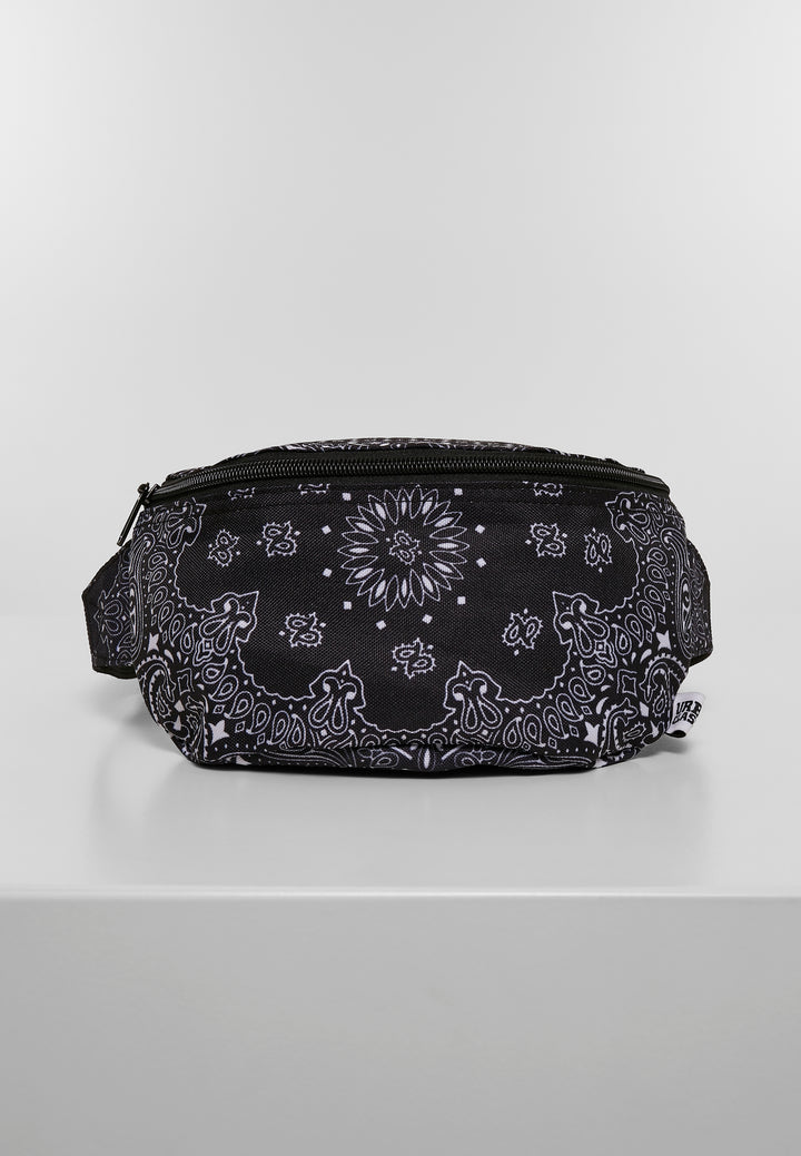 URBAN CLASSIC BANDANA PRINT HIT BAG BLACK