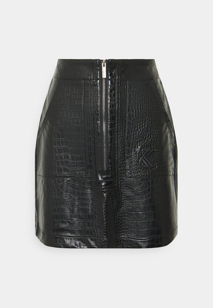 KARL KANI FAKE CROCO SKIRT BLACK