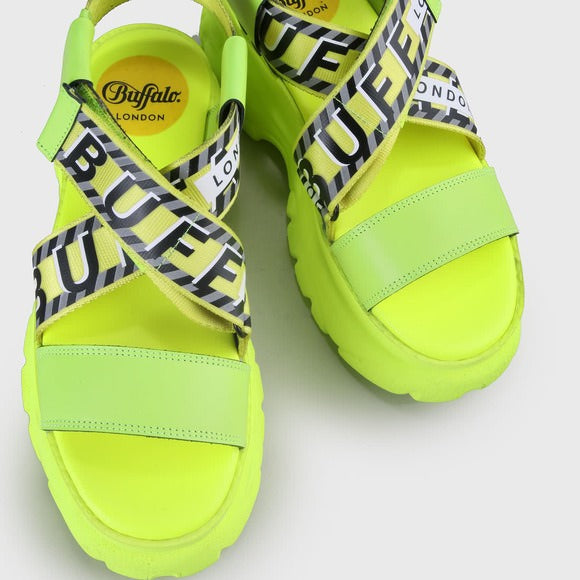 BUFFALO LONDON BO SANDAL NEON YELLOW